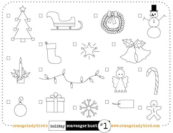 Imprimibles Navidad Vacaciones Scavenger Hunt 1 Ilustrado Etsy