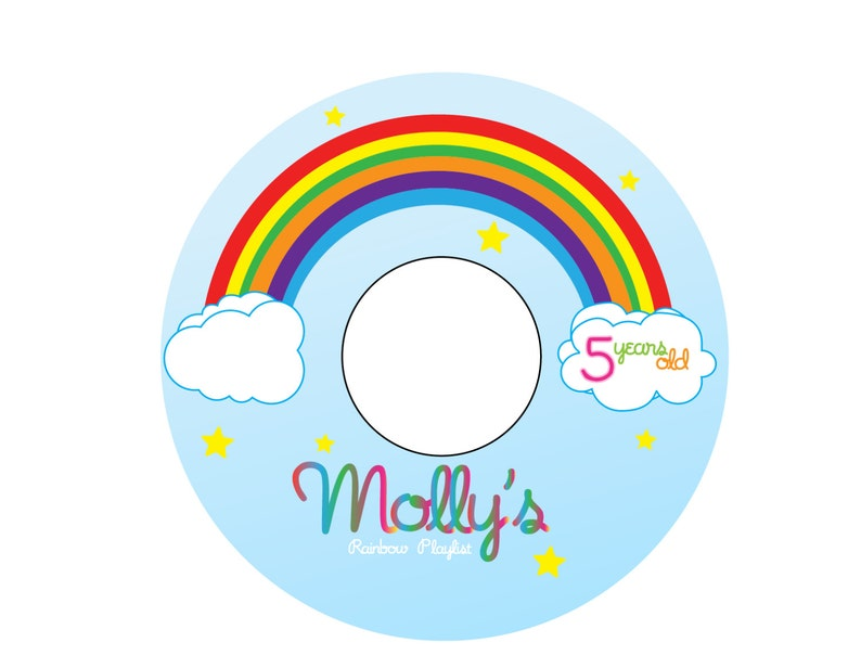 photo about Printable Cd Labels identify Around the Rainbow - Printable CD Labels