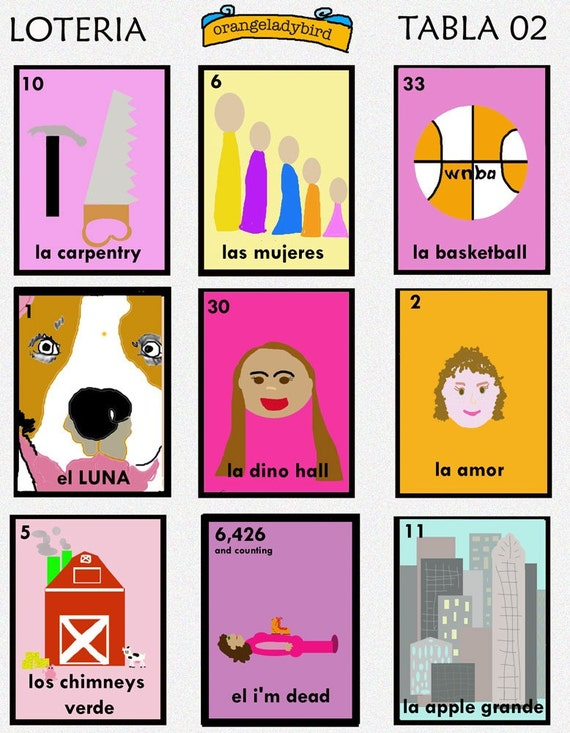 Make Your Own Loteria Cards