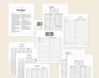 Zero based budgeting workbook- Celestial themed budget- printable download pdf
