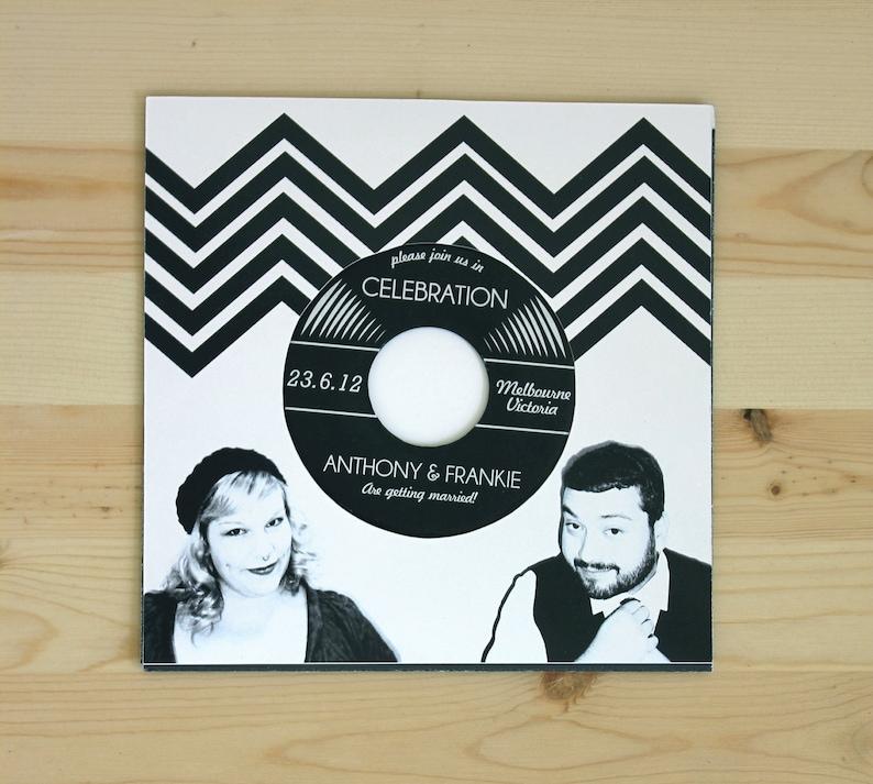 Music Lovers Vinyl Record Wedding Invitation Authentic