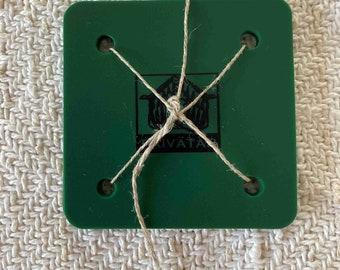 Paivatar Tablet Weaving Cards - Set of 10 - 6 cm Green card weaving plastic  inkle weaving reenactment TWGreen