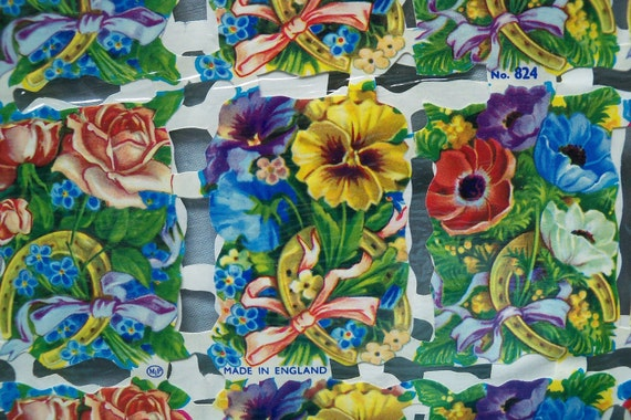 English Die Cut Reproductions, 6  Sheets Assorted Victorian Scraps