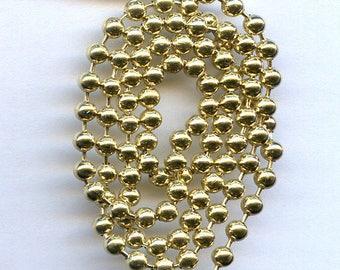 Brass Ball Chain 8 feet size 3.2mm