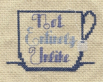 cross stitch pattern Not Entirely Unlike  .pdf douglas adams hitchhiker's guide to the galaxy