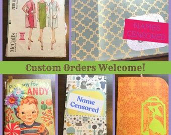 Custom Orders Welcome! down payment for custom journal, size and style of your choosing.
