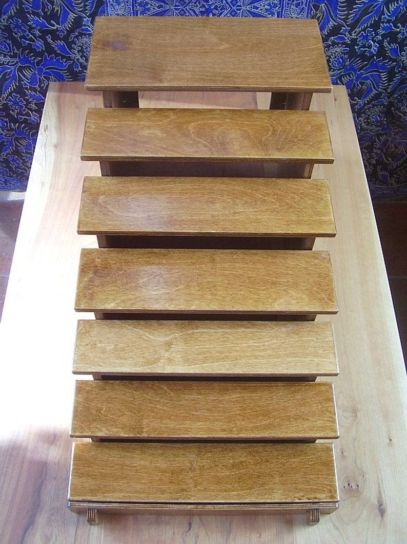 Small Tiered Display Unit   Collapses flat  craft  show image 0