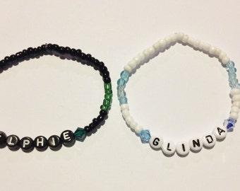 7b8c5d3616a75 ELPHABA & GALINDA Beaded Friendship Bracelets | Etsy