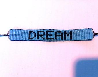 Handmade DREAM Bead Woven Bracelet
