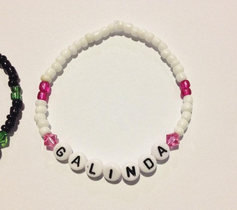ba9dbeecd812c ELPHABA & GALINDA (Wicked) Beaded Friendship Bracelets