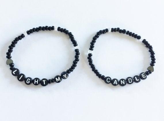 3301fbf30dd63 LIGHT MY CANDLE (Rent) Beaded Friendship Bracelets