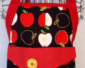 Kids Apron Metro Market Apples In Black