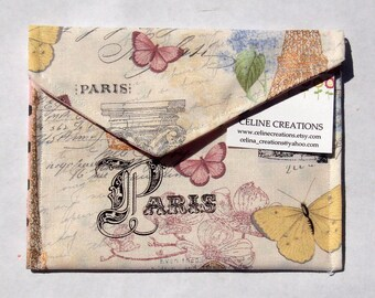 Springtime In Paris Sanitary Napkin Pad Bag Pouch Holder