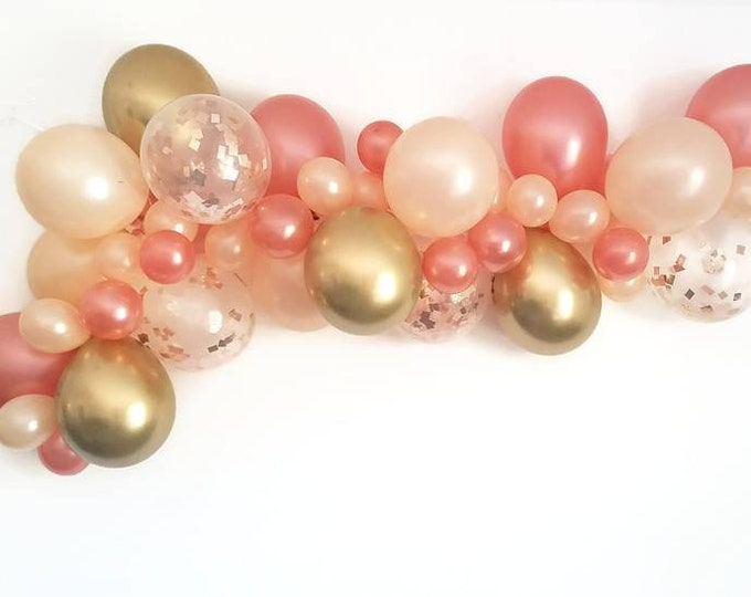 Balloon Garland,DIY balloon Garland kit,Custom balloon kit,Choose your length balloon Garland,pink balloon garland kit,pink balloon garland