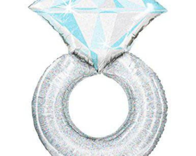 Engagement ring balloon,ring balloon,diamond ring engagement balloon,large ring balloon,platinum ring balloon,engagment party,bachelorette