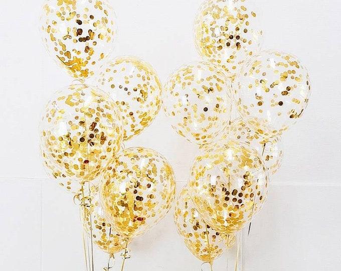 Confetti balloon set,gold  confetti balloons,confetti balloons,gold confetti wedding balloons,birthday balloons,custom confetti balloons
