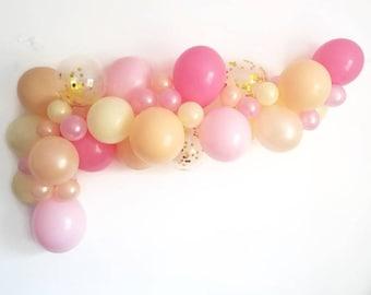 Balloon Garland,DIY balloon Garland kit,pink balloon Garland,Complete balloon Garland kit.Confetti balloon Garland,blush balloon garland