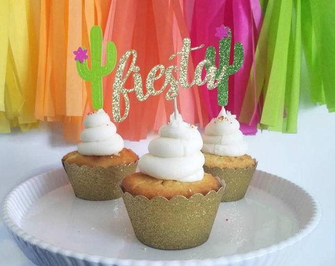 Fiesta cupcake topper,fiesta,fiesta decorations,final fiesta decorations,final fiesta bachelorette,Mexico Bachelorette party decoration