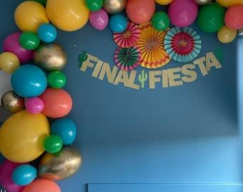 Fiesta balloon Garland,balloon Garland kit,fiesta balloons,fiesta decor,final fiesta,final fiesta bachelorette,firsts balloon arch, fiesta