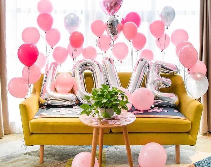 Jumbo letter balloons,letter balloons,Valentine's balloons,love balloons,custom letter Balloon,Valentine's party balloons, Valentine's,love