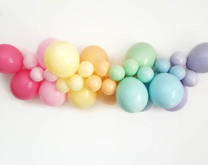Pastel rainbow balloon Garland, rainbow balloon Garland, Pastel balloon Garland,pastel rainbow party,Rainbow party decorations,rainbow decor