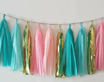 Tassel Garland,Pink tassel garland,blue garland,Baby shower banner,garland,gender reveal,baby shower decoration,gender reveal decoration