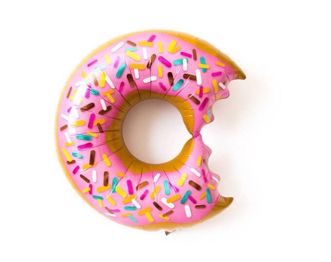 Donut balloon,giant donut balloon,sprinkle donut balloon,two sweet party balloon,donut turn one balloon,first birthday,36in donut balloon