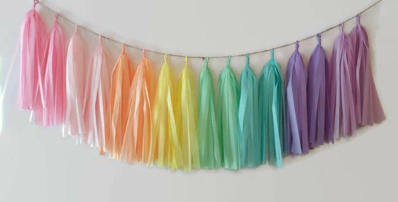 Custom tassel garland,custom garland,you pick your colors,made to order,custom banner,custom order,tassel garland,fully assembled,any colors