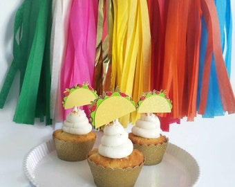 Taco cupcake topper,taco cupcake pick,taco party,taco Tuesday,taco bout a party,taco bout love,taco bout a baby, fiesta cupcakes,fiest