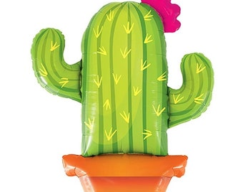 Cactus balloon,giant cactus balloon,fiesta balloon,Potted cactus balloon,mylar cactus,Cactus,fiesta,party decoration,fiesta birthday,llama