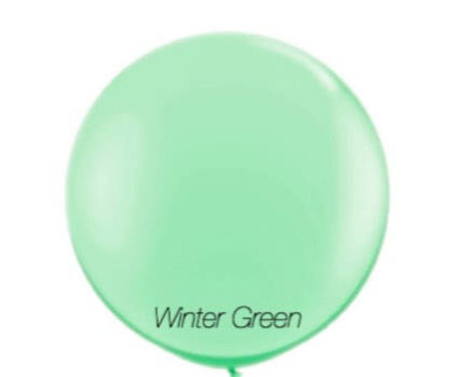 36 inch winter green jumbo balloon, giant party balloon,wedding balloon,mint balloon,mint green balloon,Baby shower decoration,party balloon