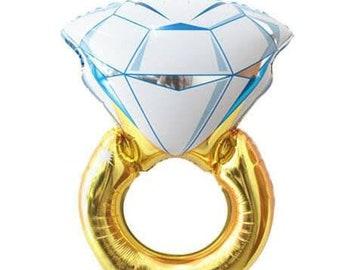 Engagement ring balloon,ring balloon,diamond ring engaged balloon,large ring balloon, bridal shower, Bachelorette party,bachelorette decor