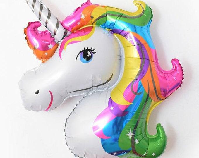 Unicorn balloon,rainbow unicorn,unicorn birthday, jumbo unicorn balloon,magical unicorn,unicorn party decoration,unicorn Mylar balloon