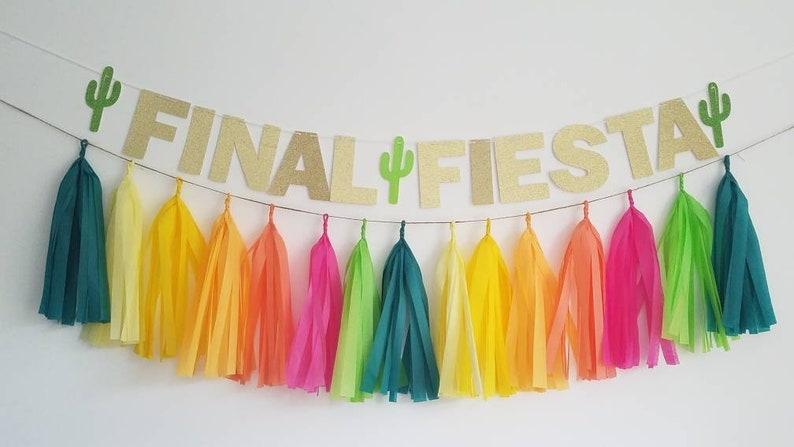 Final fiesta banner,fiesta garland,fiesta Bachelorette tassel garland,Bachelorette party,Bachelorette decor,last fling before the ring,