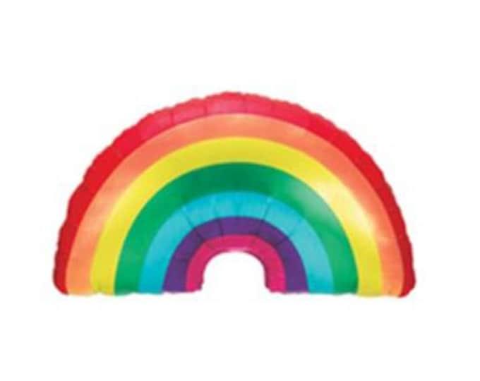 Rainbow balloon,rainbow mylar balloon,large rainbow balloon, rainbow birthday,rainbow party, rainbow decorations,rainbow party balloon