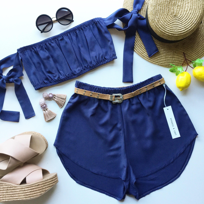 f4fd648c6b Cornflower blue navy matching set festival set fashion twin