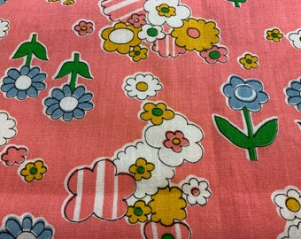 1960's cotton, 37 inches wide, 33 inches length