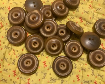 6 Matching Vintage Vegetable Ivory Whistle Buttons, 19 and 20th century