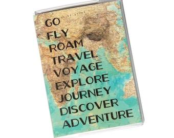 PASSPORT COVER - Go fly Roam Travel.. Passport Holder, Passport Case, Travel Wallet, Vintage World Map, Travel Gift Idea, Graduation Gift