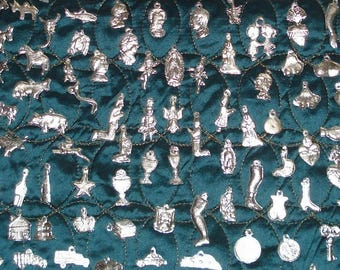 Heart MIlagros 100 Assorted Silver Tone Mexican Milagros Charms Milagro Ex Votos