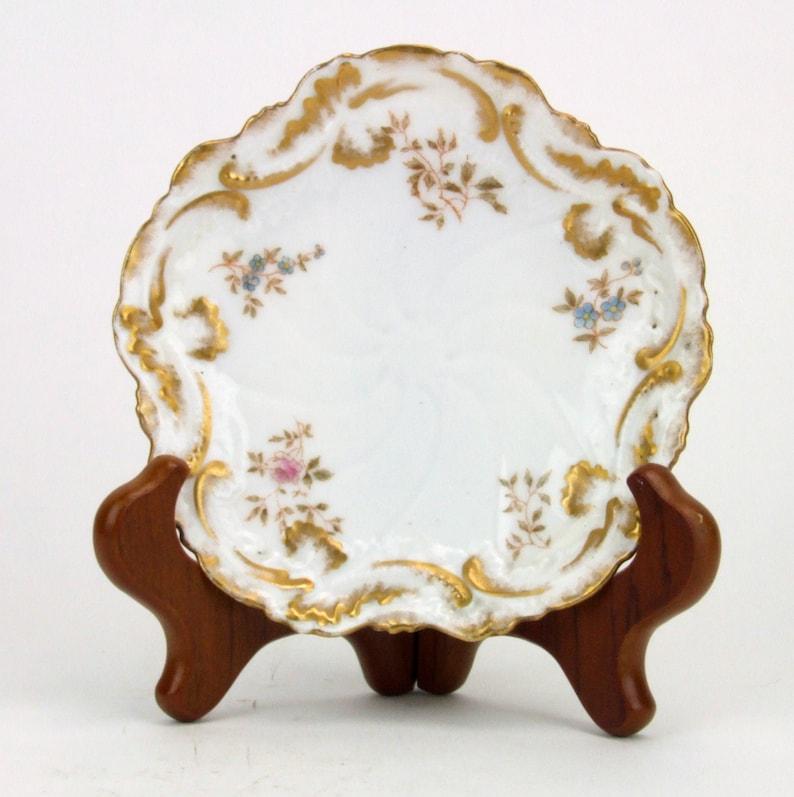 F D /& Co Limoges France Antique Decorative Plate Limoges V France Mark