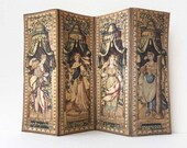 Miniature Room Screen of 18th Century Royal Court in Dollhouse 1 12 Scale