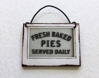 Fresh Baked Pies Served Daily Engraved 9in Pie Plate