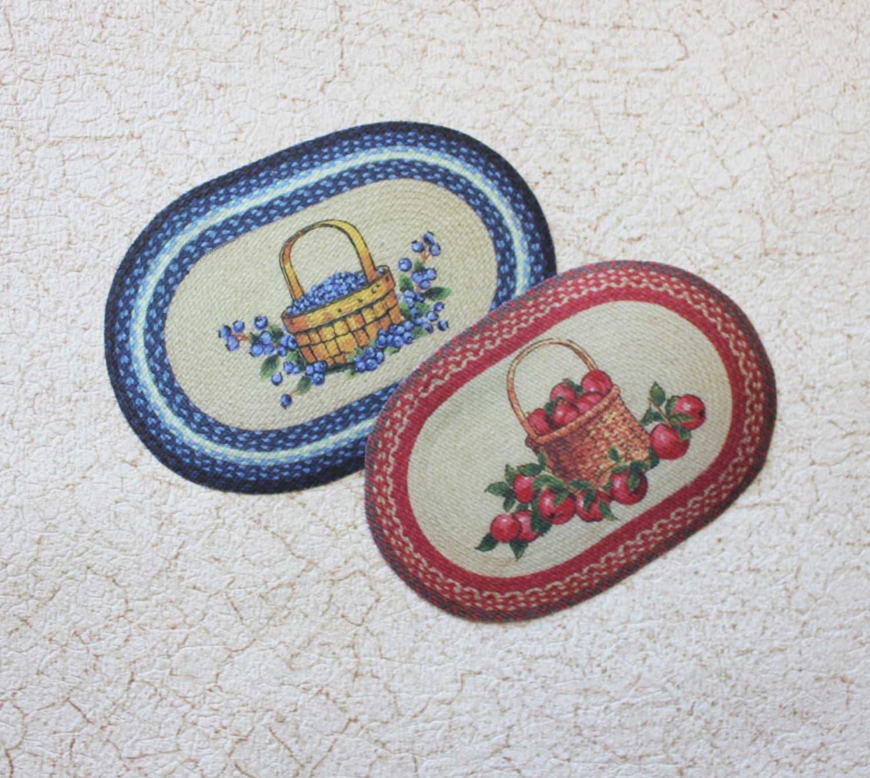Used Oval Braided Rugs: Dollhouse Miniature Rug Oval Braided Look Your Choice
