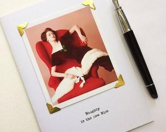 Funny  Sassy Christmas Card Naughty is the New Nice