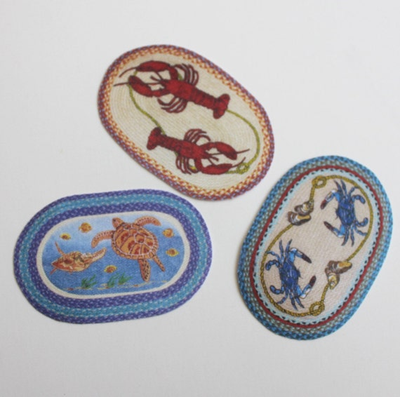 Used Oval Braided Rugs: Miniature Rug Oval Braided Look Your Choice Of Sea Creatures