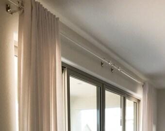 Acrylic Curtain Rod Etsy