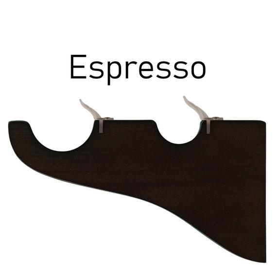 "Set of 2 Espresso Drapery Curtain Wood Single Bracket for 1 3//8/"" Drapery Rod"