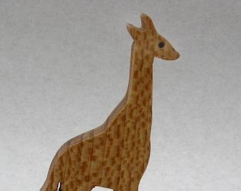 Giraffe Toy on Wheels, Wooden Block Animal for Kids, Organic Zoo Animals, Stocking Stuffers, Waldorf, Montessori Wooden Toy, African Animal