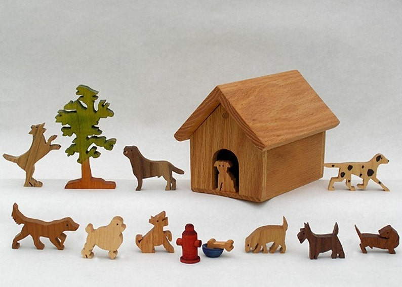 Doghouse Ten Different Wooden Dogs Ideal Gift for a Dog lover image 0